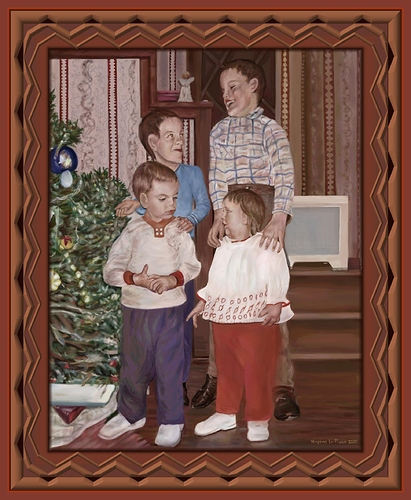 Christmas for Brothers and Sister Framed