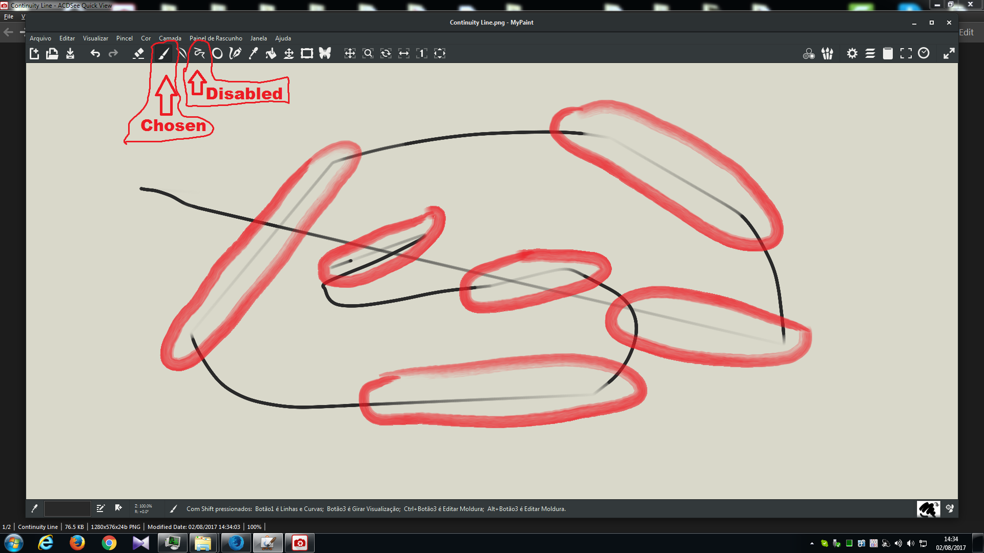 Basic trace problem / Connected Lines after brush strokes